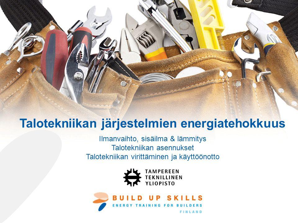 Talotekniikan järjestelmien energiatehokkuus