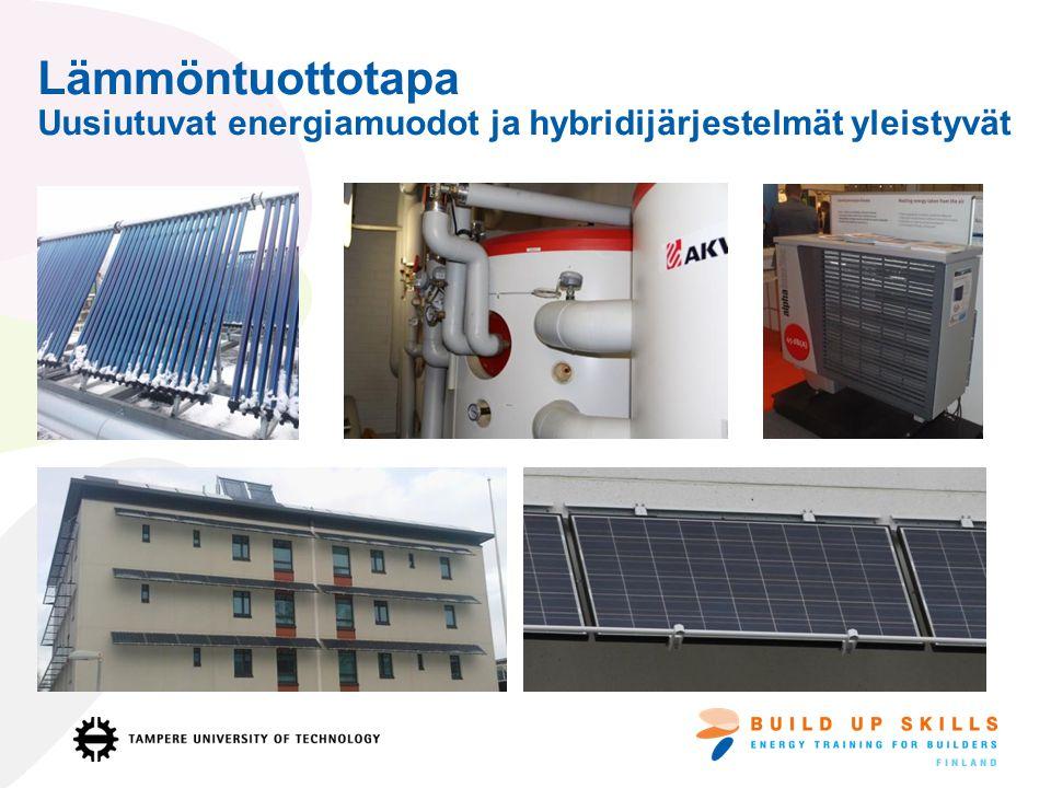 Lämmöntuottotapa Uusiutuvat energiamuodot ja hybridijärjestelmät yleistyvät