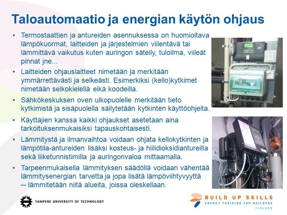 Taloautomaatio ja energian käytön ohjaus