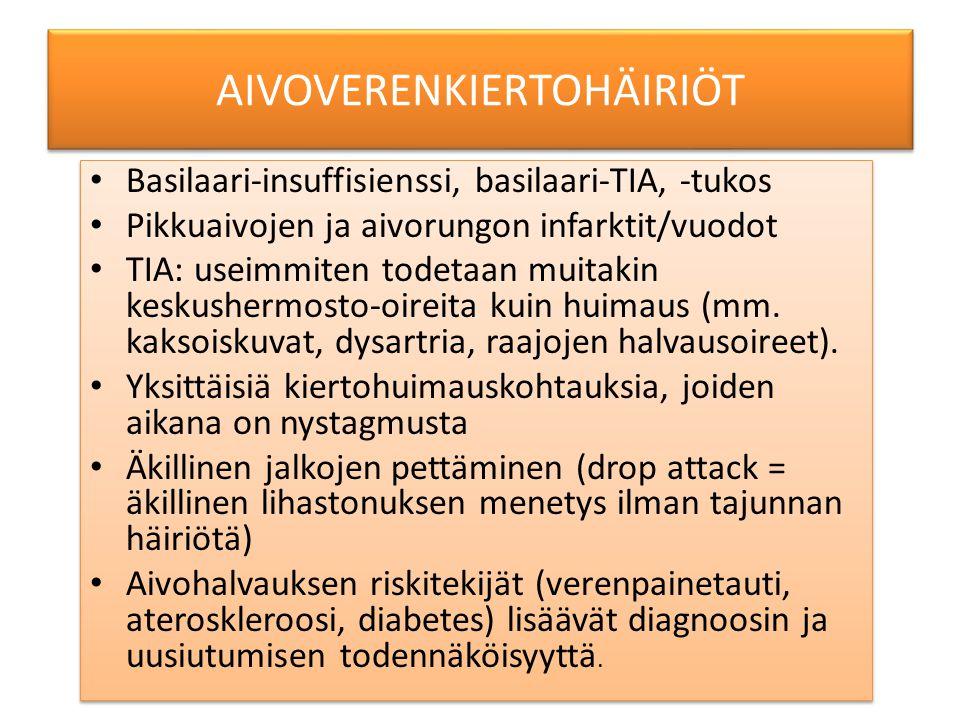AIVOVERENKIERTOHÄIRIÖT