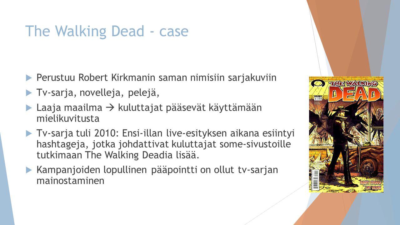The Walking Dead - case Perustuu Robert Kirkmanin saman nimisiin sarjakuviin. Tv-sarja, novelleja, pelejä,