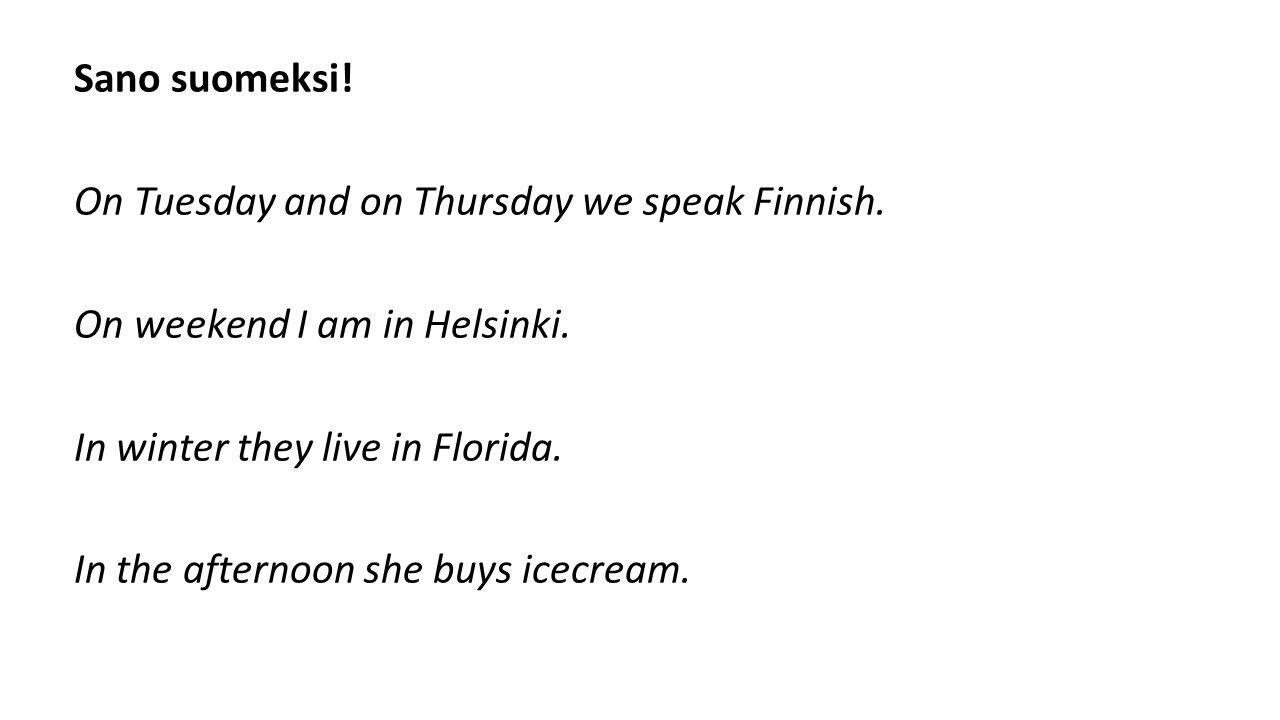 A m suomeksi