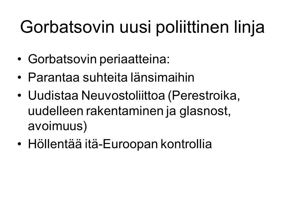 Gorbatsovin uusi poliittinen linja