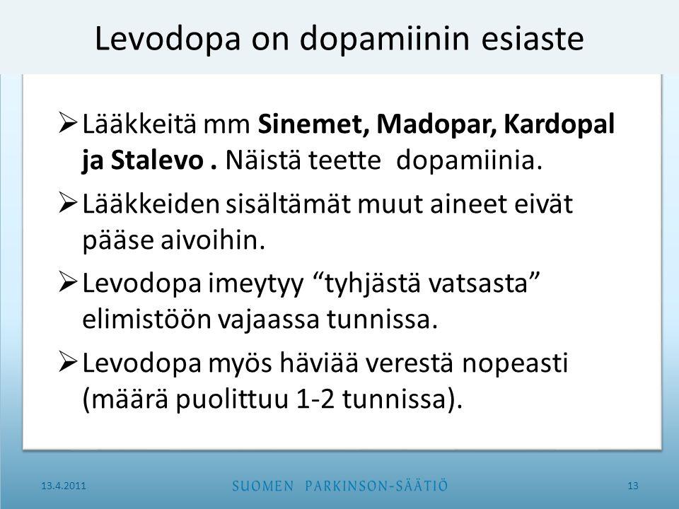 Levodopa on dopamiinin esiaste