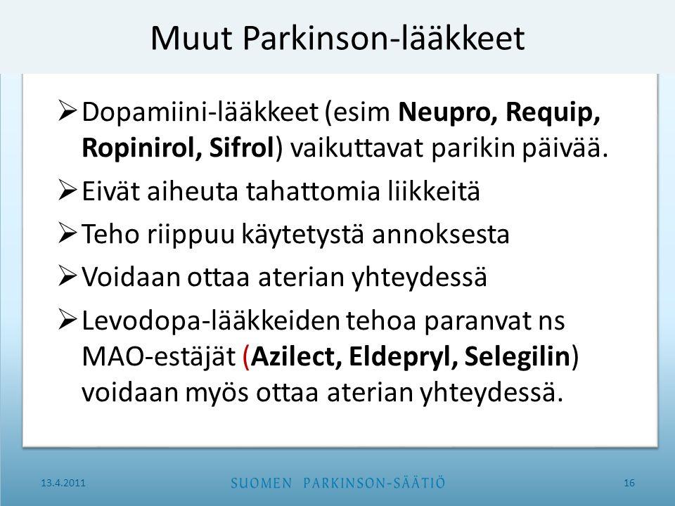 Muut Parkinson-lääkkeet