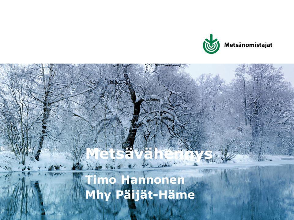 Metsävähennys Timo Hannonen Mhy Päijät-Häme