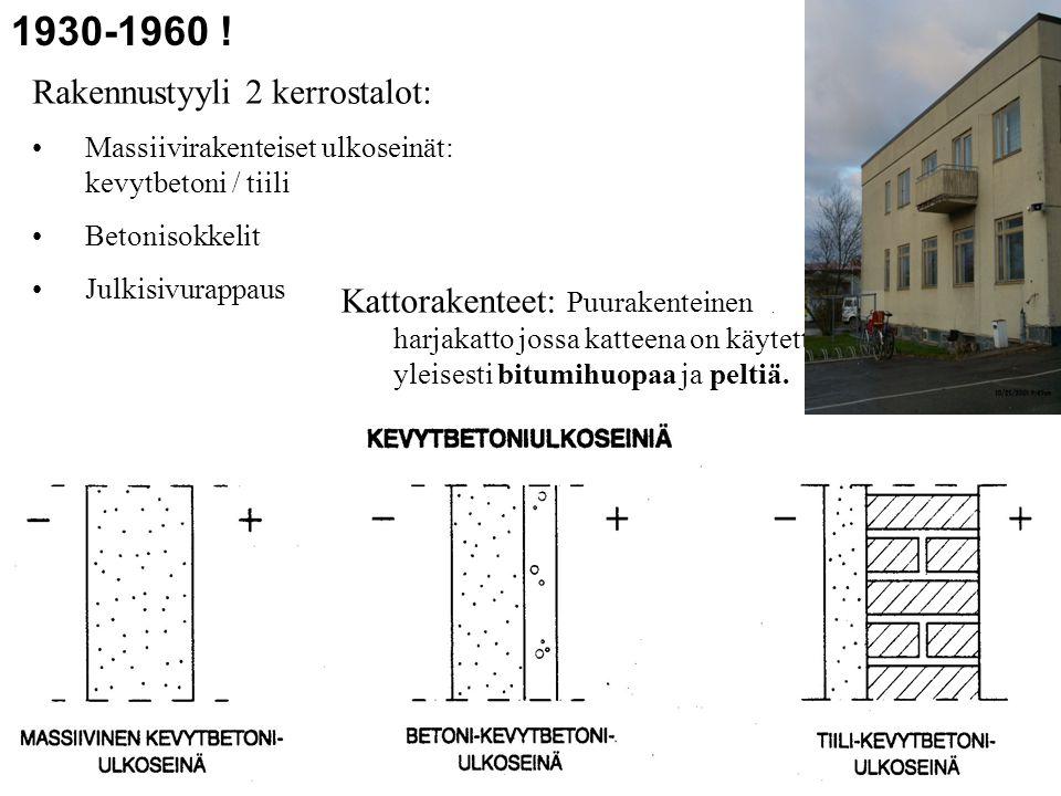 1930-1960 ! Rakennustyyli 2 kerrostalot: