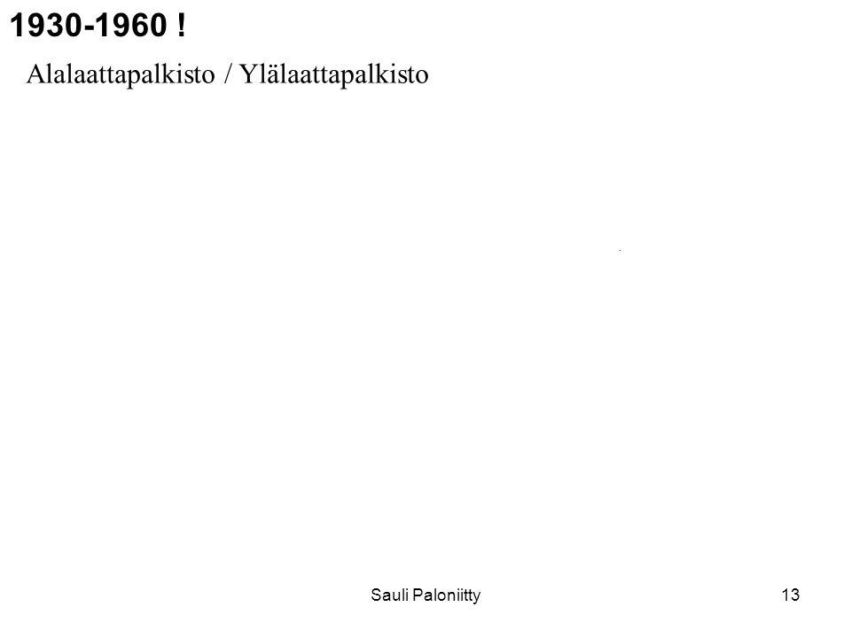 1930-1960 ! Alalaattapalkisto / Ylälaattapalkisto Sauli Paloniitty
