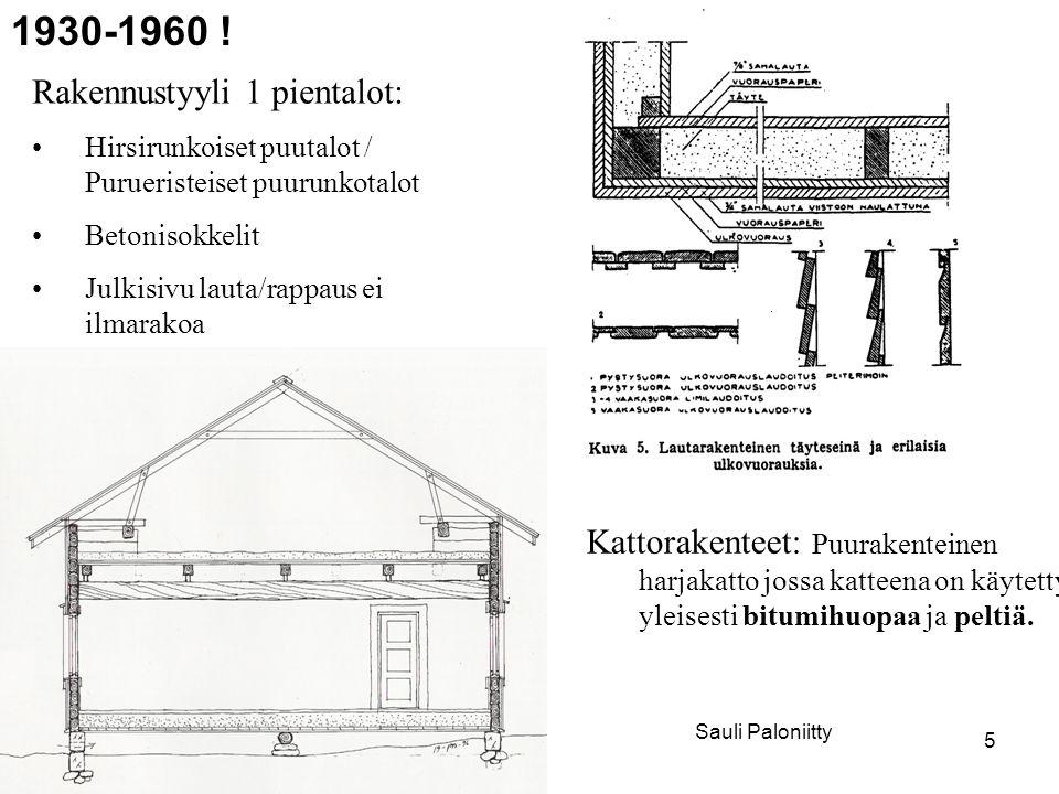 1930-1960 ! Rakennustyyli 1 pientalot: