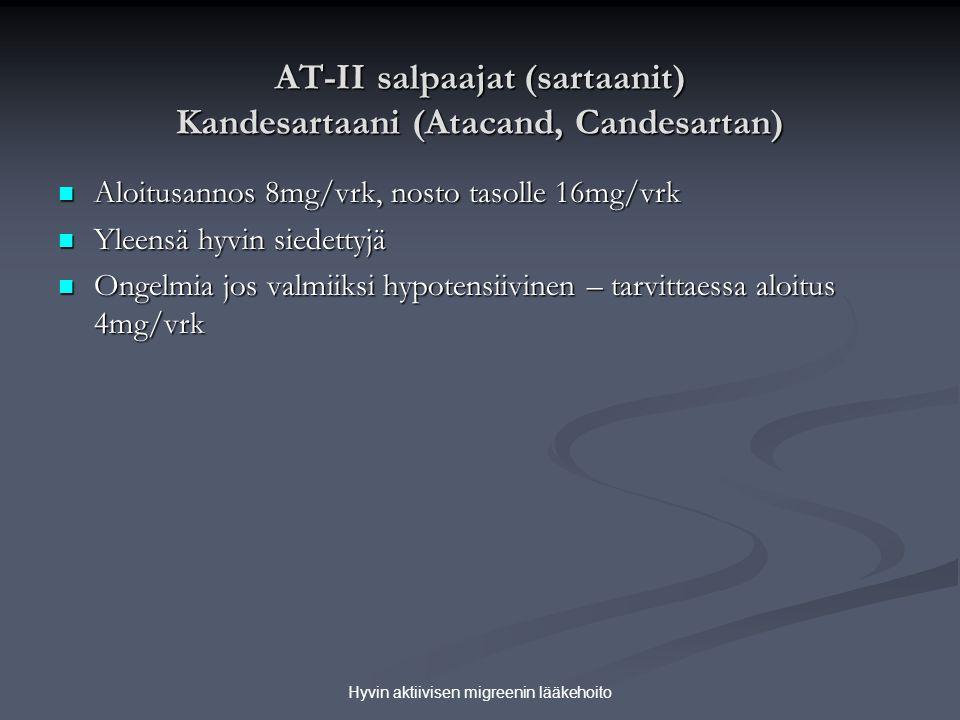 AT-II salpaajat (sartaanit) Kandesartaani (Atacand, Candesartan)