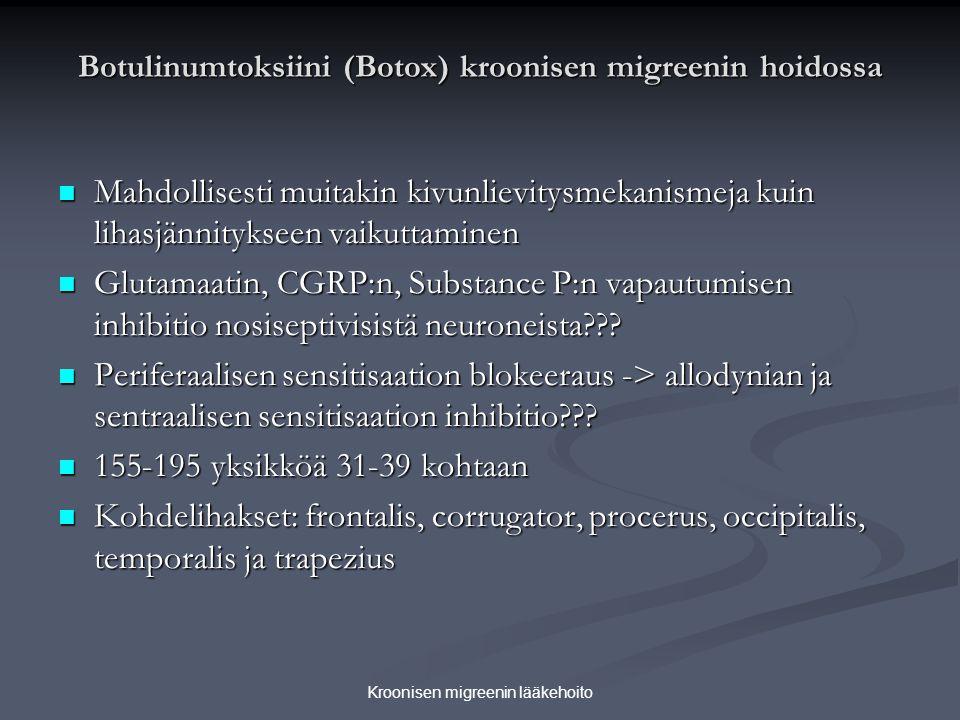 Botulinumtoksiini (Botox) kroonisen migreenin hoidossa