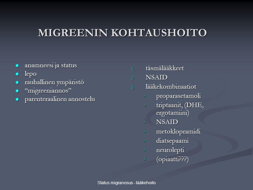 MIGREENIN KOHTAUSHOITO