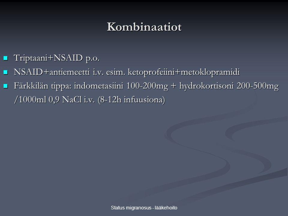 Status migranosus - lääkehoito