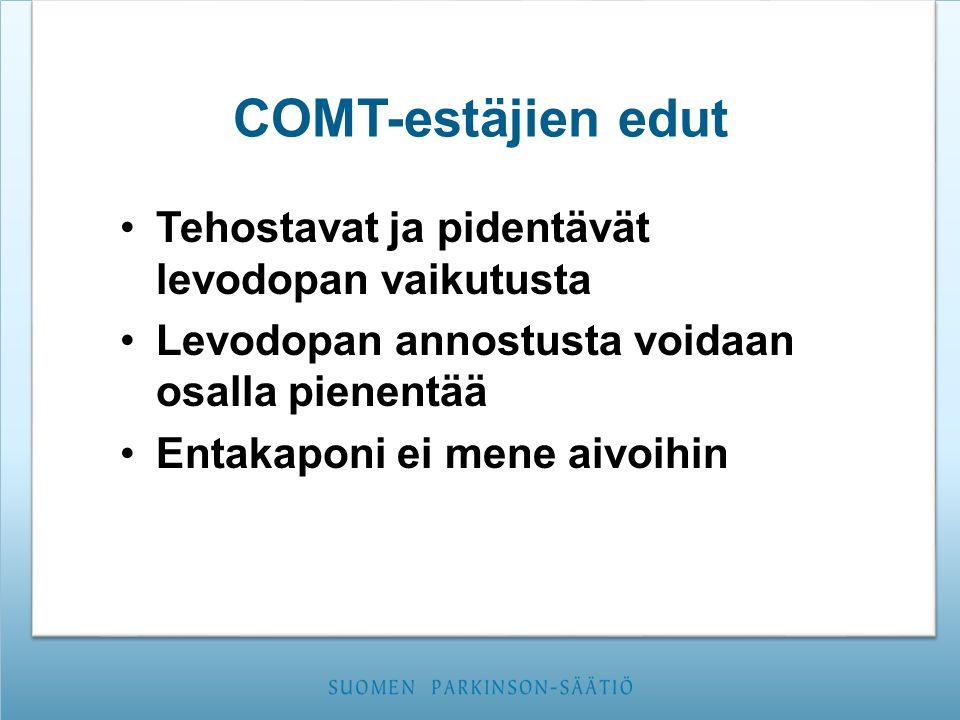 COMT-estäjien edut Tehostavat ja pidentävät levodopan vaikutusta