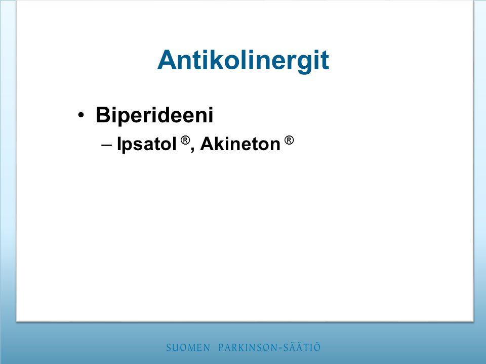 Antikolinergit Biperideeni Ipsatol ®, Akineton ®