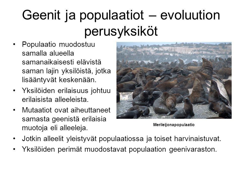 Geenit ja populaatiot – evoluution perusyksiköt