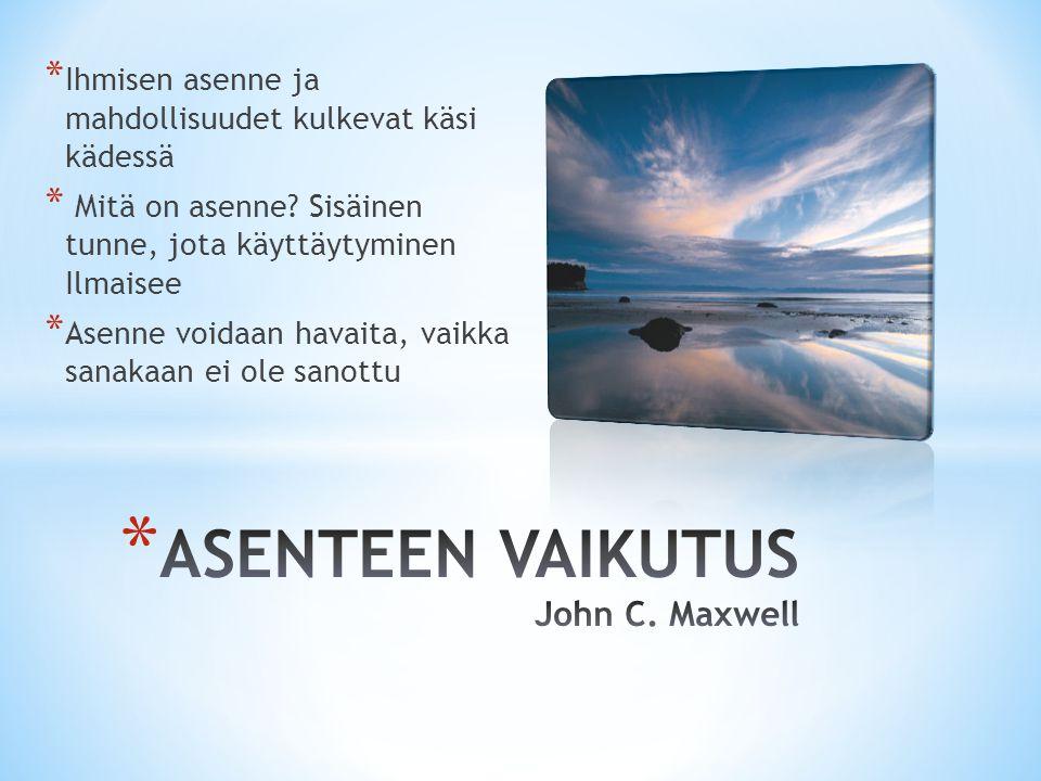 ASENTEEN VAIKUTUS John C. Maxwell