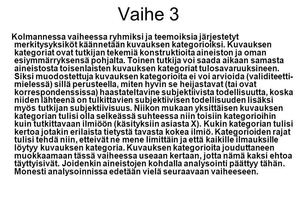 Vaihe 3