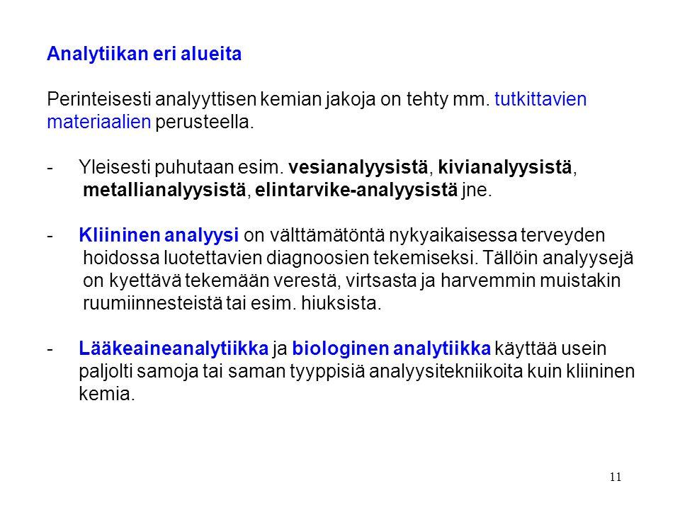 Analytiikan eri alueita