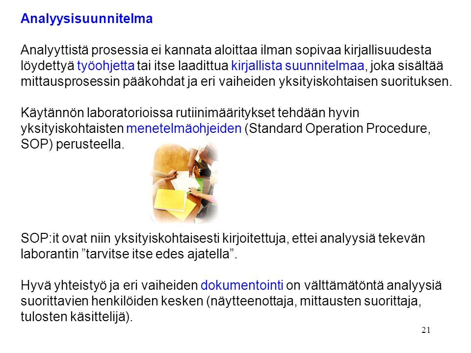 Analyysisuunnitelma Analyyttistä prosessia ei kannata aloittaa ilman sopivaa kirjallisuudesta.