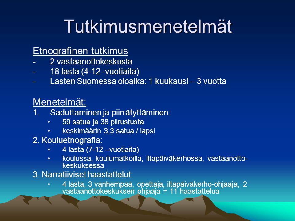 Tutkimusmenetelmät Etnografinen tutkimus Menetelmät:
