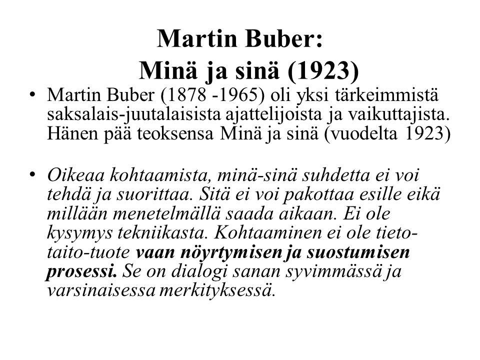 Martin Buber: Minä ja sinä (1923)