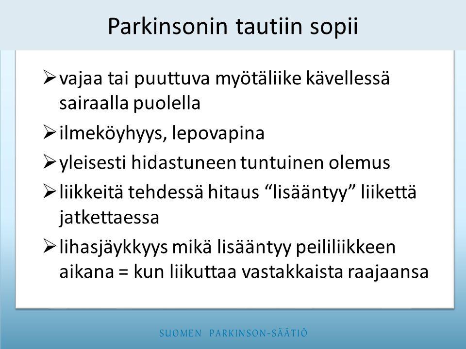 Parkinsonin tautiin sopii