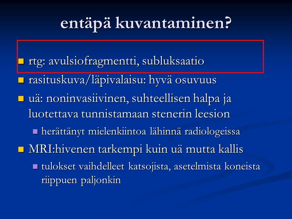 entäpä kuvantaminen rtg: avulsiofragmentti, subluksaatio