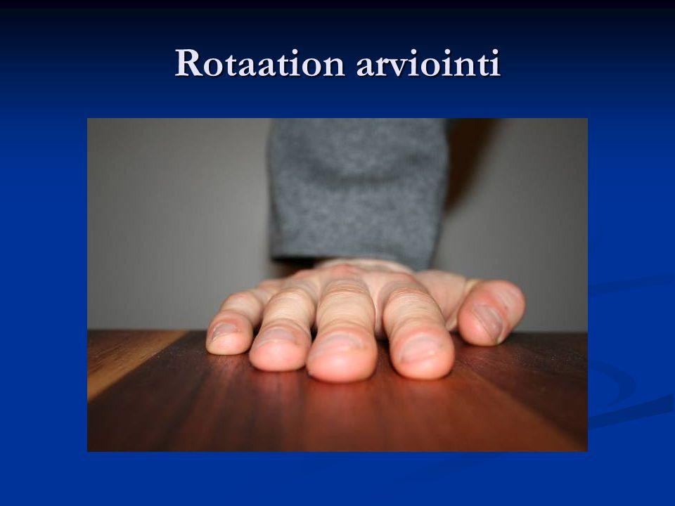 Rotaation arviointi