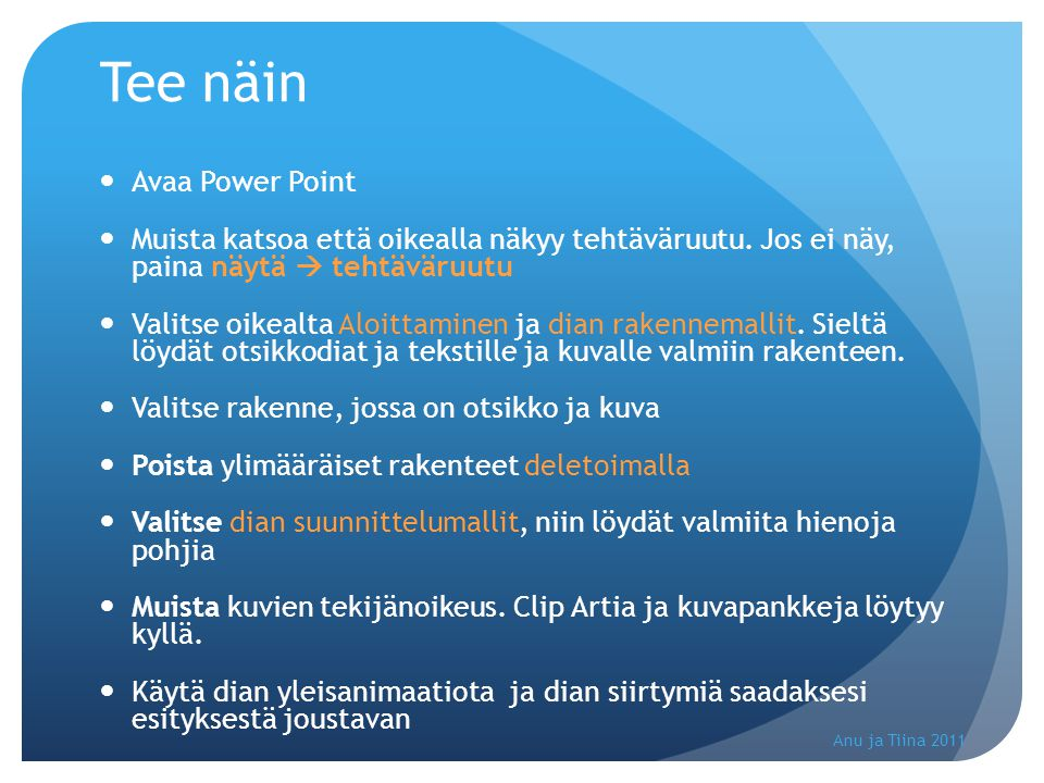 Tee näin Avaa Power Point