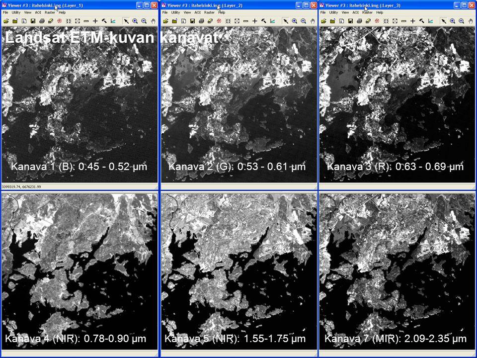 Landsat ETM-kuvan kanavat