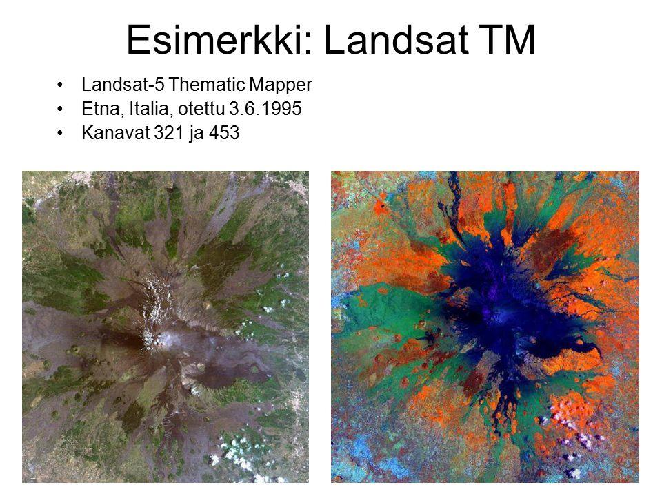 Esimerkki: Landsat TM Landsat-5 Thematic Mapper
