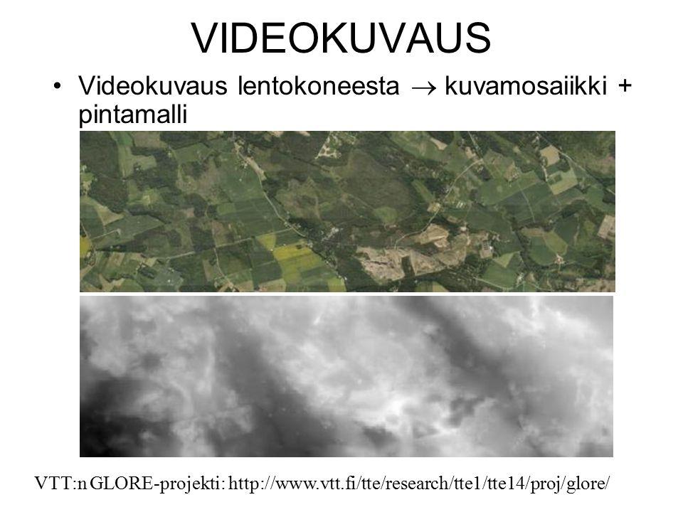 VIDEOKUVAUS Videokuvaus lentokoneesta  kuvamosaiikki + pintamalli