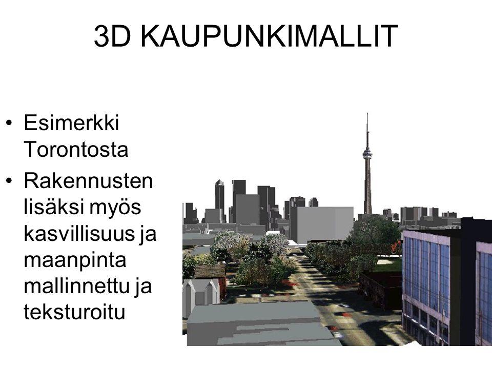 3D KAUPUNKIMALLIT Esimerkki Torontosta