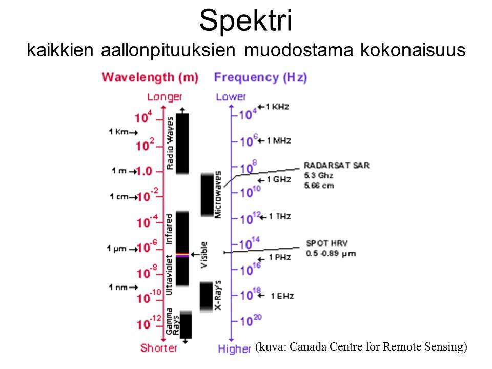 Spektri kaikkien aallonpituuksien muodostama kokonaisuus