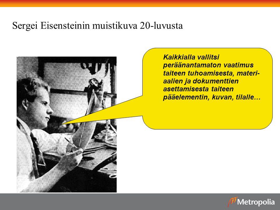 Sergei Eisensteinin muistikuva 20-luvusta