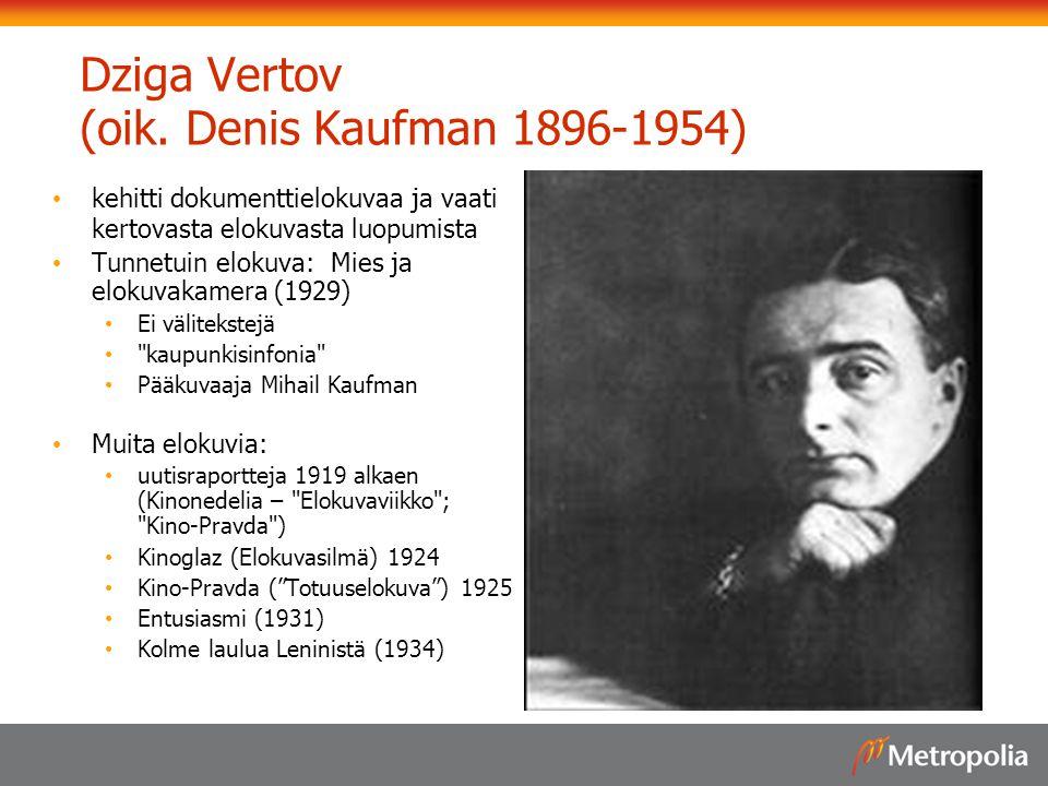 Dziga Vertov (oik. Denis Kaufman 1896-1954)