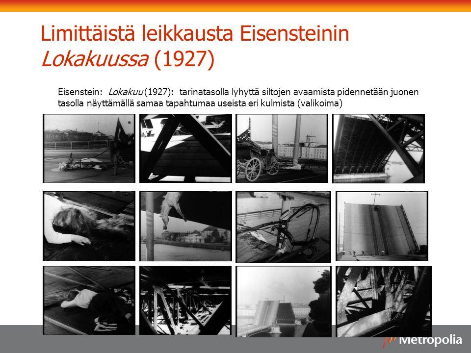 Limittäistä leikkausta Eisensteinin Lokakuussa (1927)