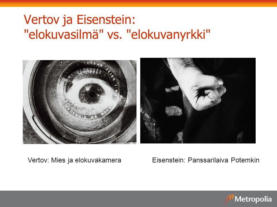 Vertov ja Eisenstein: elokuvasilmä vs. elokuvanyrkki