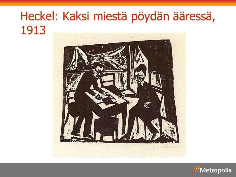 Heckel: Kaksi miestä pöydän ääressä, 1913