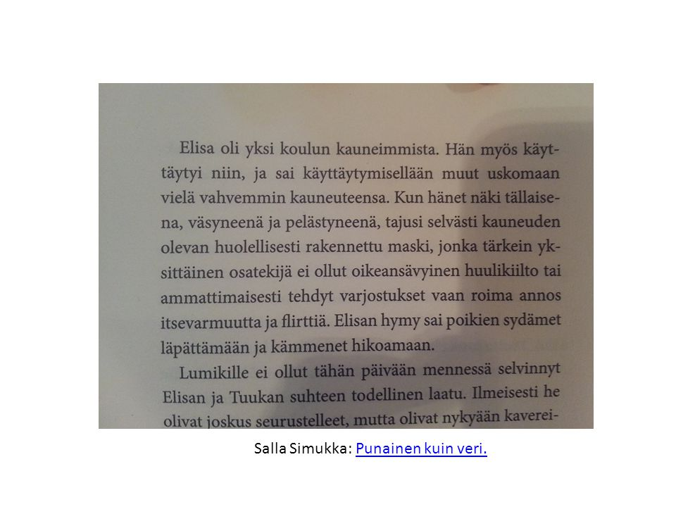 Salla Simukka: Punainen kuin veri.