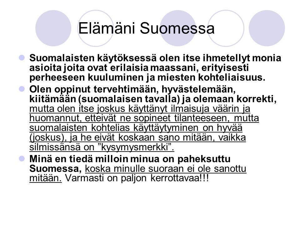 Elämäni Suomessa