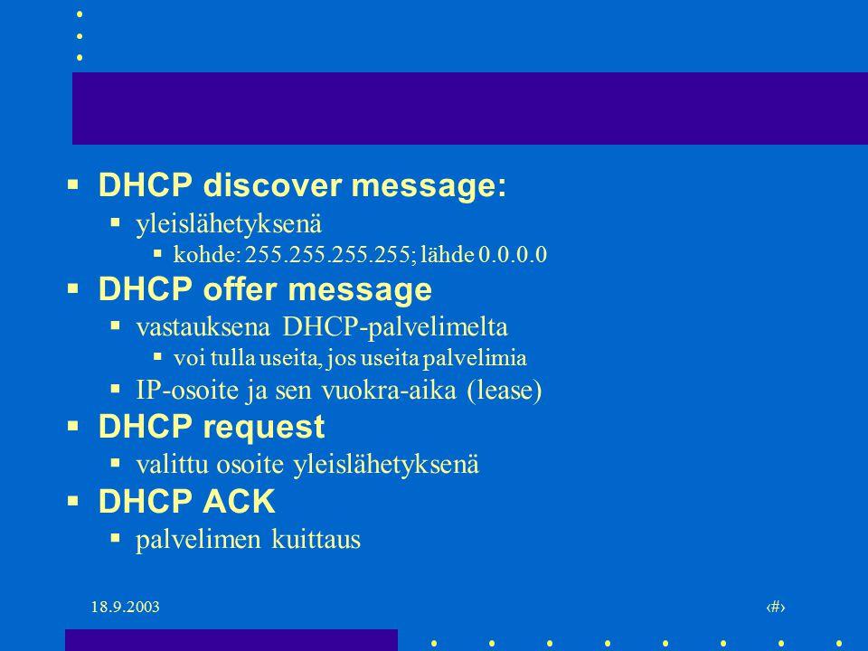 3. IP-kerroksen muita protokollia ja mekanismeja - ppt lataa