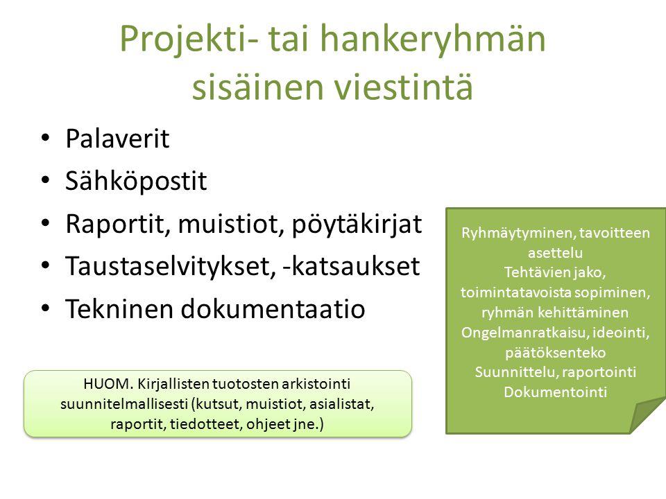 Yritysviestintä, hankeviestintä, projektiviestintä - ppt lataa