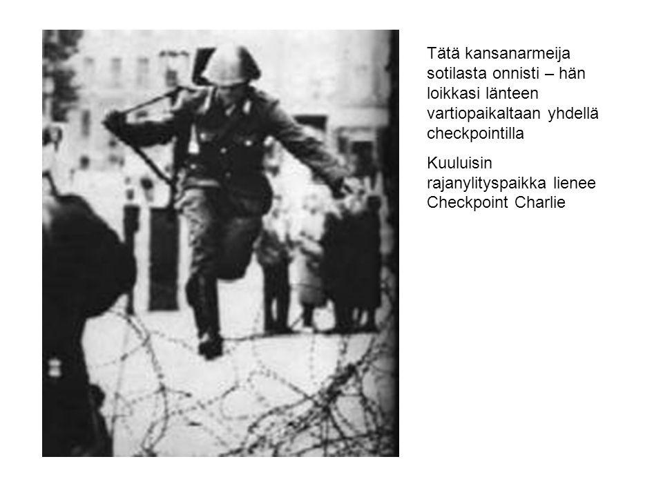 Tätä kansanarmeija sotilasta onnisti – hän loikkasi länteen vartiopaikaltaan yhdellä checkpointilla