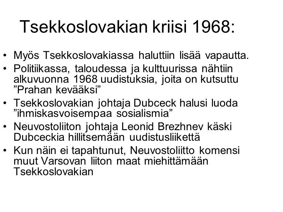 Tsekkoslovakian kriisi 1968: