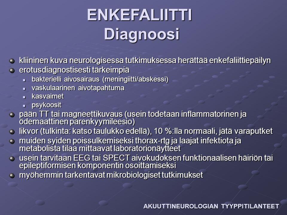 ENKEFALIITTI Diagnoosi