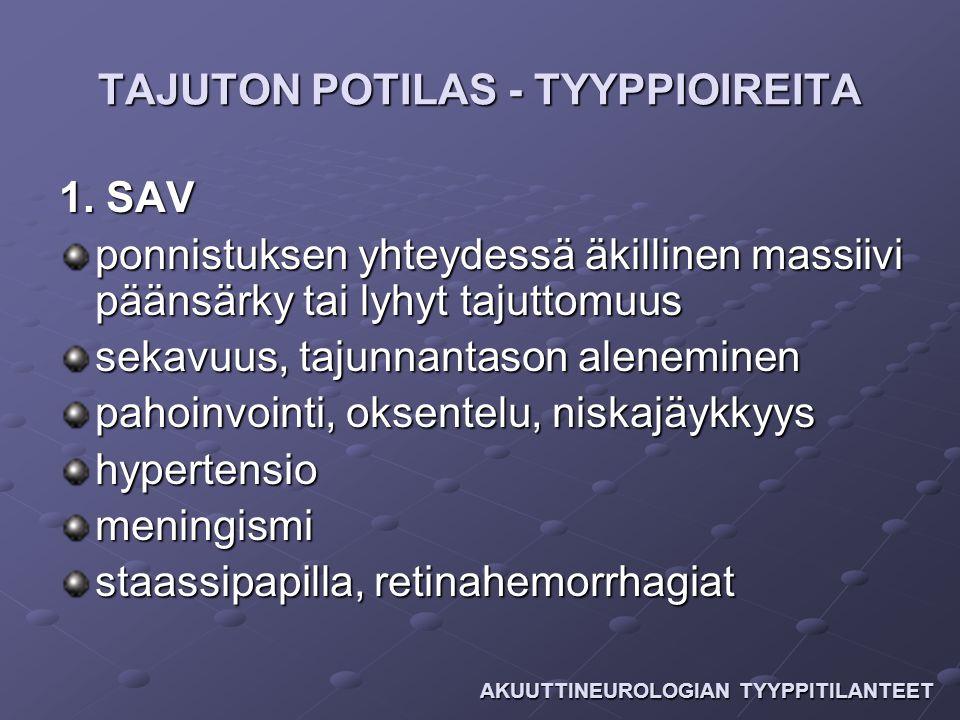 TAJUTON POTILAS - TYYPPIOIREITA