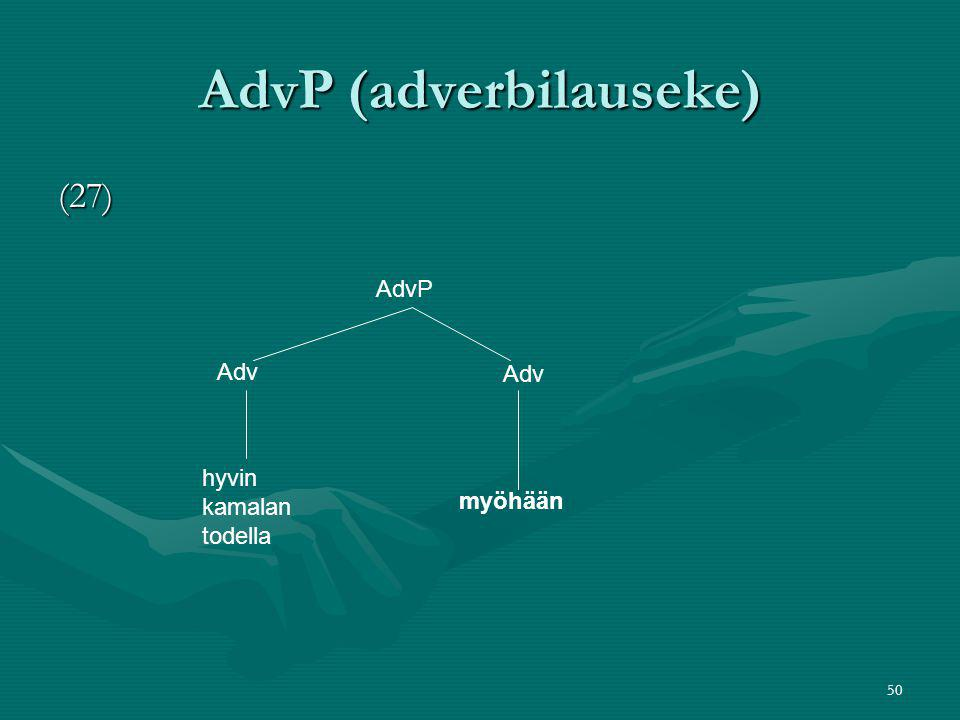 AdvP (adverbilauseke)