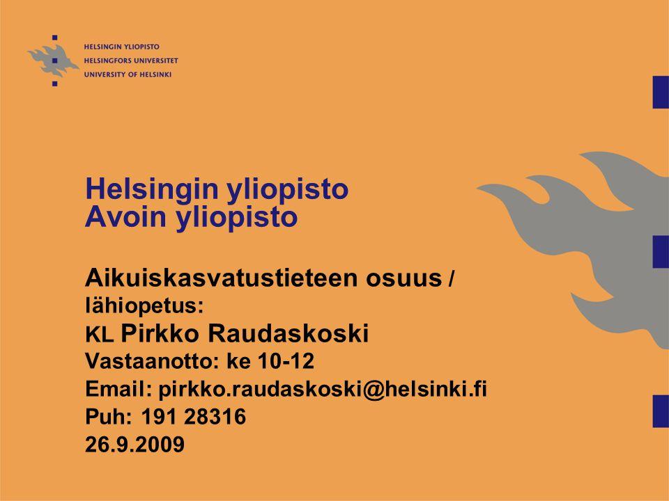 Helsingin yliopisto Avoin yliopisto